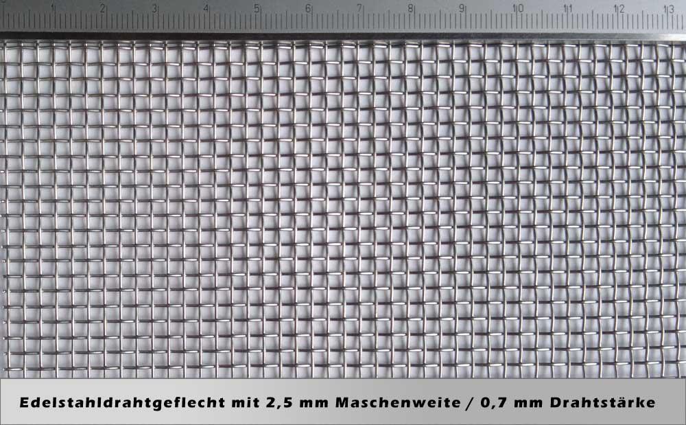 drahtgeflecht mit 2 5mm maschenweite 0 7mm drahtst rke. Black Bedroom Furniture Sets. Home Design Ideas