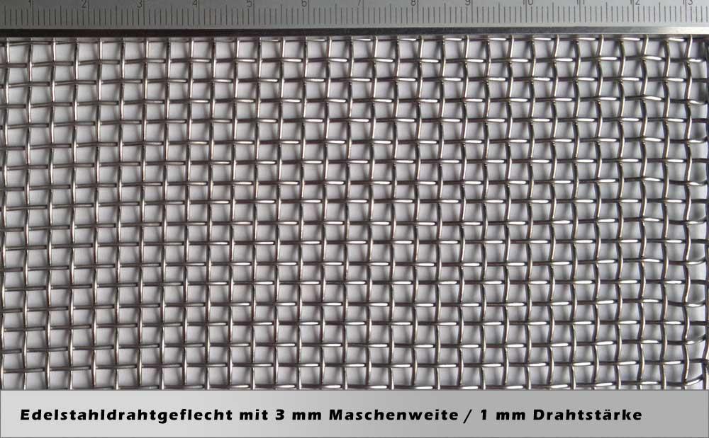Drahtgeflecht mit 3,0mm Maschenweite / 1mm Drahtstärke